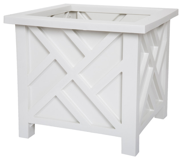 Pure Garden Box Planter - White.