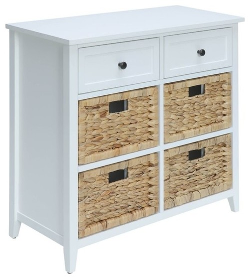 Bowery Hill 6-Drawer Accent Chest, White