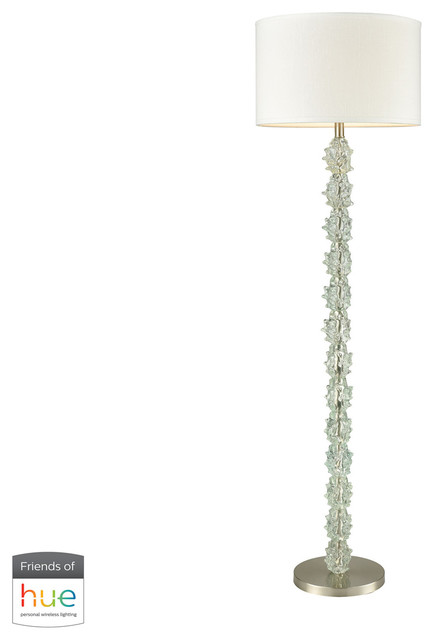 differently 06c10 ec4a2 Helsinki Floor Lamp in Ocean Mint with White Shade (incl. Bulb & Bridge)