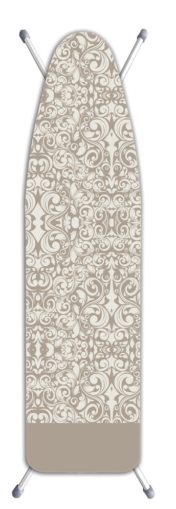 Laundry Solutions by Westex IB0320 Deluxe Extra Thick Damask Ironing Board Cover Beige Westex International