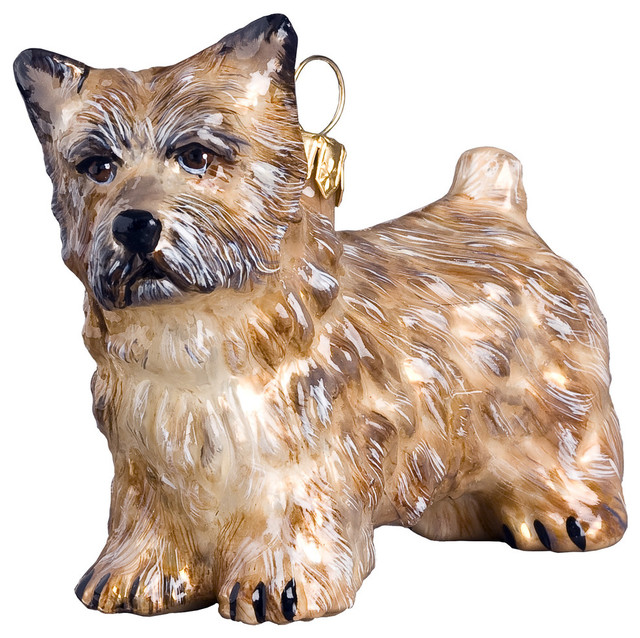 Cairn Terrier Cream Ornament - Cairn Terrier Ornament - Christmas Ornaments - By Joy To The World