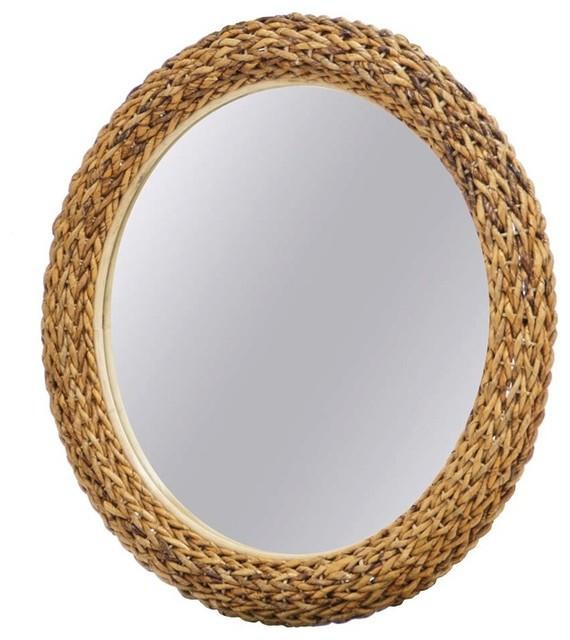 "Maui 36"" Round Mirror."