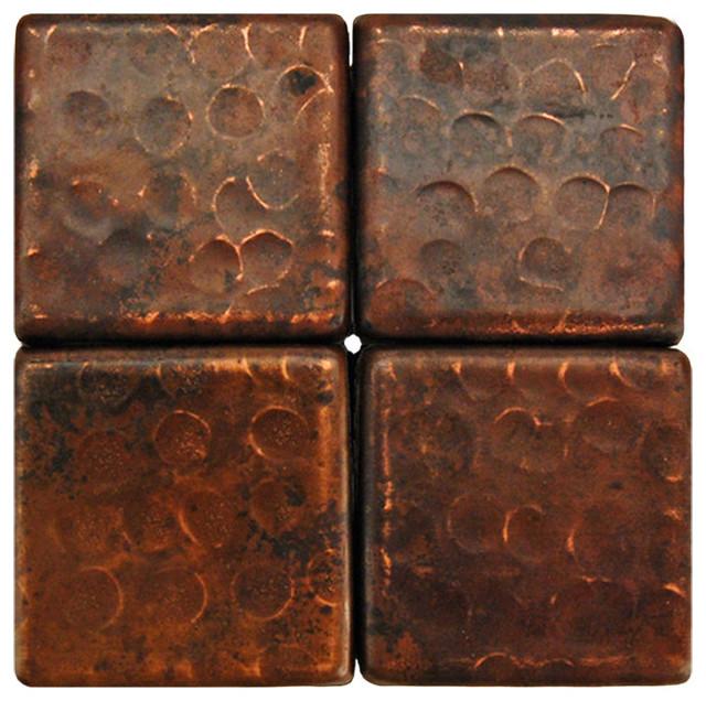 2 X2 Hammered Copper Tile Single