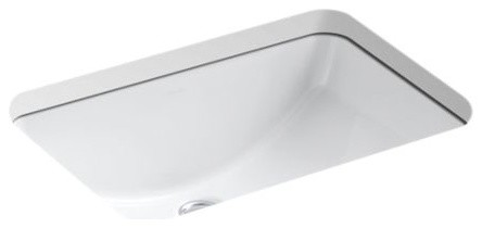 "Kohler Ladena 20-7/8"" X 14-3/8"" X 8-1/8"" Under-Mount Bathroom Sink, White"