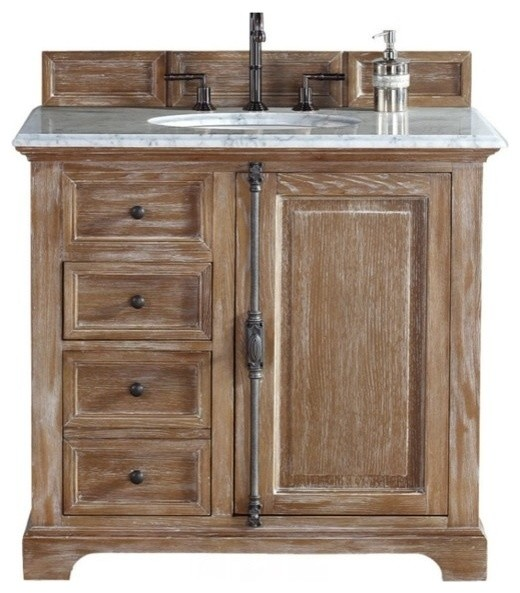 36 Vanity Cabinet Driftwood No Counter Top