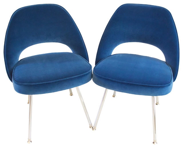 Awesome Saarinen Executive Side Chairs, Set Of 4 Midcentury Dining Chairs
