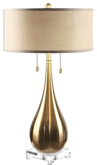 Gold Brass Teardrop Table Lamp