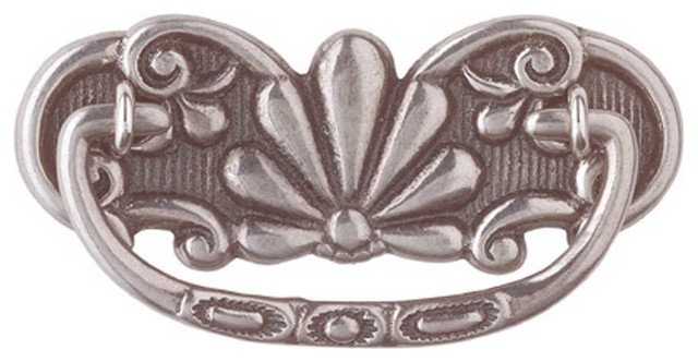 Cabinet Pull Pewter Solid Brass Scalloped Bail - Traditional - Cabinet And Drawer Handle Pulls ...