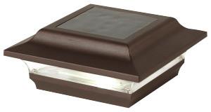 """Aluminum Imperial Solar Post Cap, Bronze, 4""""x4"""""""