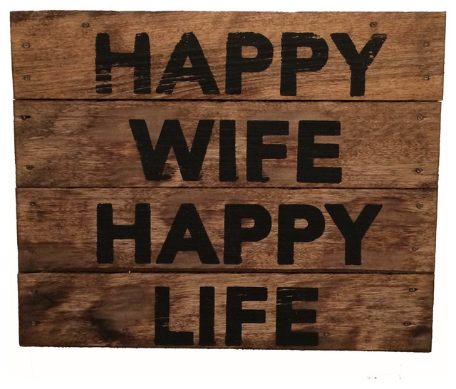 Hy Wife Life Wooden Sign
