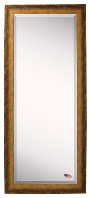 "American Made Rayne Tarnished Bronze Extra Tall Floor Mirror, 30.5""x0.75""x71""."