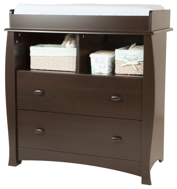 Exceptionnel South Shore Beehive Changing Table With Removable Changing Station, Espresso