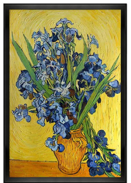 Van Gogh Irises In A Vase Modern Paintings By Overstockart