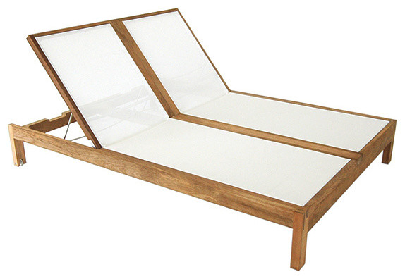 Double Chaise With White Mesh Contemporary Outdoor Chaise Lounges Part 91