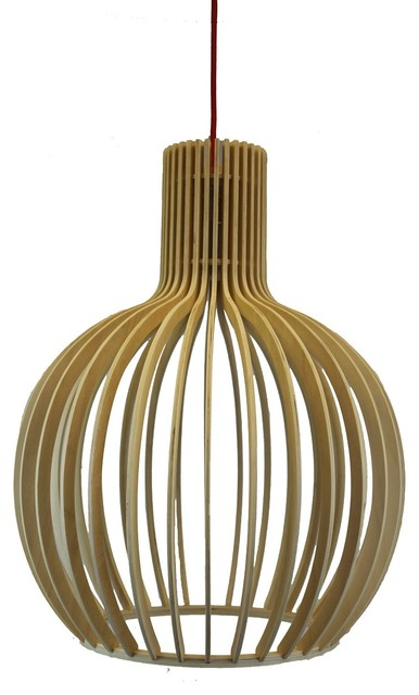Octo Birch Natural Wood Pendant Lamp
