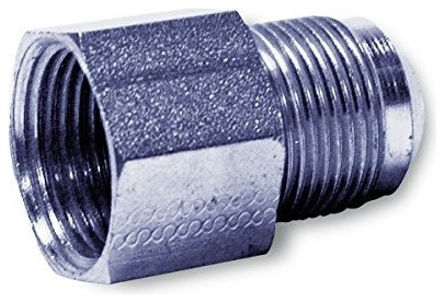 """Gas Connector Adpater Fitting, Flare Thread 1/2"""" Fip, Uncoated Stainless Steel,"""