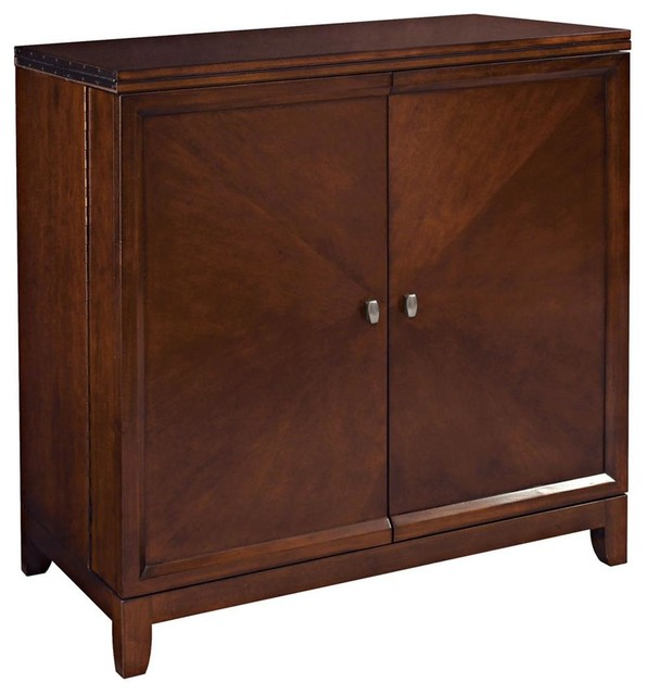 Flip Top Bar in Root Beer - Transitional - Wine And Bar Cabinets - by ShopLadder