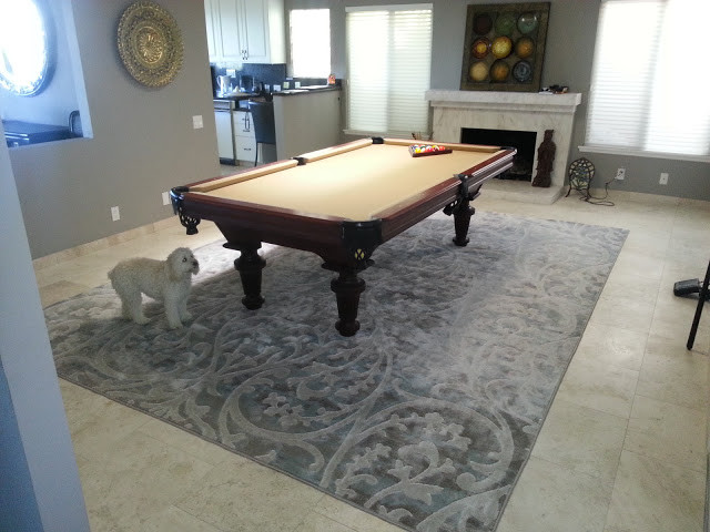 Grey Contemporary Modern Rug For Under Pool Table Modern Family Room