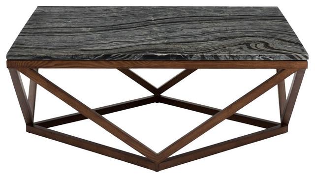 Nuevo Living Nuevo Living Jasmine Coffee Table Wood Base - Nuevo marble coffee table