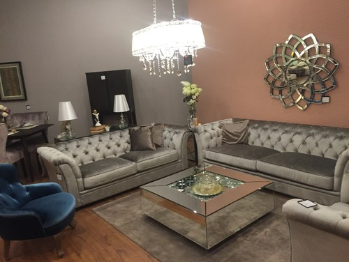 Silver Color Fabric Sectional Sofa   Living Room   Pinterest   Living  rooms, Room and Living room furniture