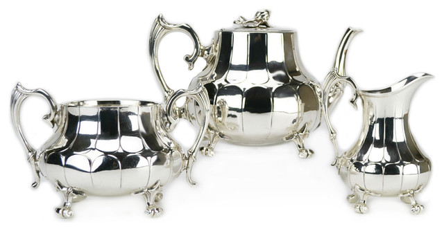 Consigned Silver-Plated Tea Set Antique English  sc 1 st  Houzz & Consigned Silver-Plated Tea Set Antique English - Traditional ...