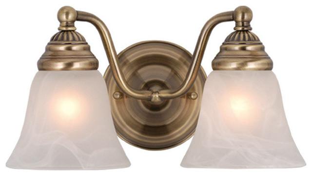 Standford 2-Light Vanity - Traditional - Bathroom Vanity Lighting ...