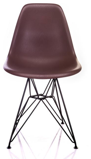 Sensational Nature Series Brown Wood Grain Dsr Mid Century Modern Chair Black Steel Leg Ibusinesslaw Wood Chair Design Ideas Ibusinesslaworg