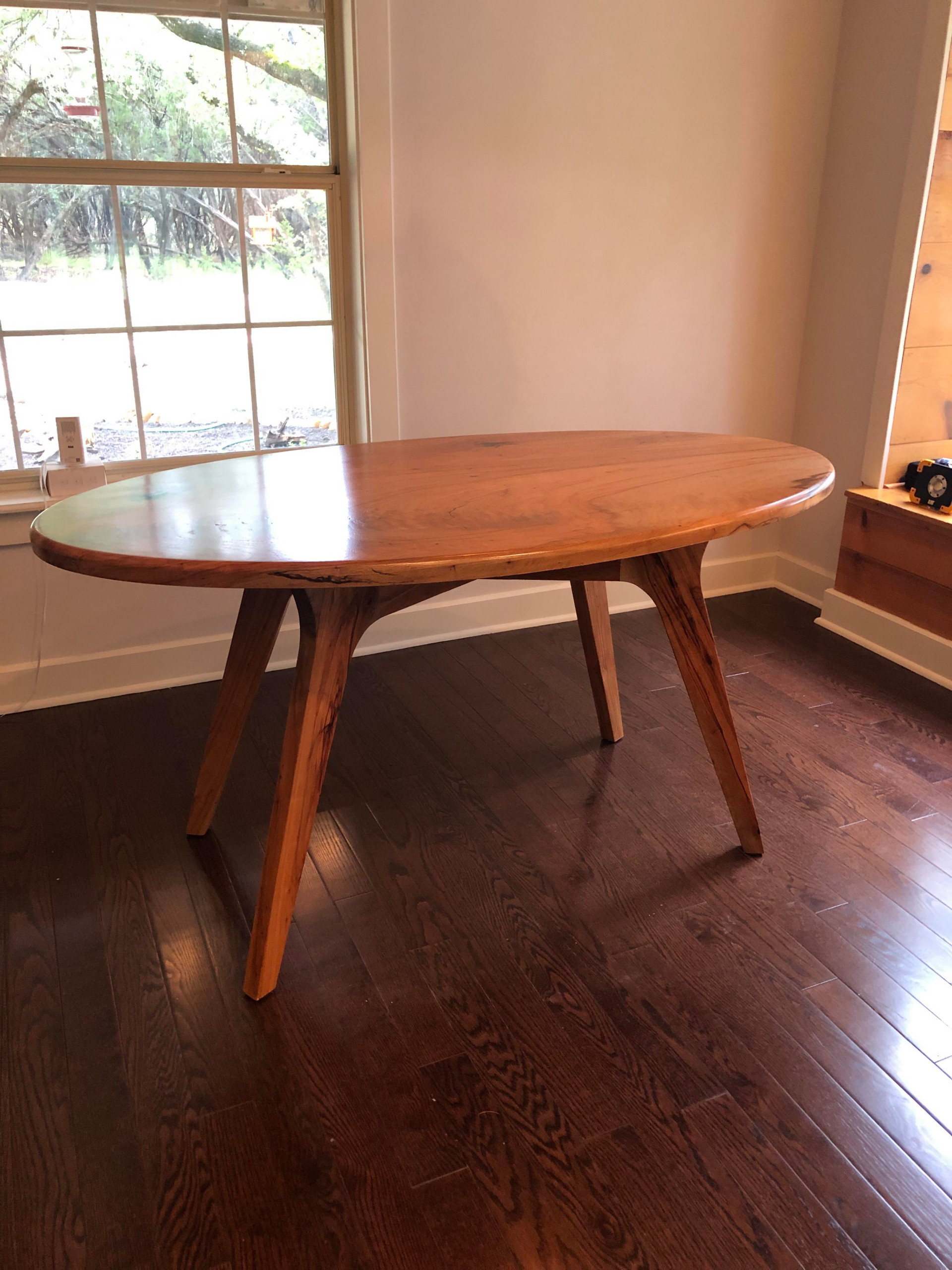 Pecan Oval Dining Table