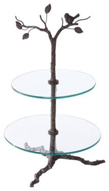 Iron Tree Stand for Cupcakes, 2-Tier eclectic serveware