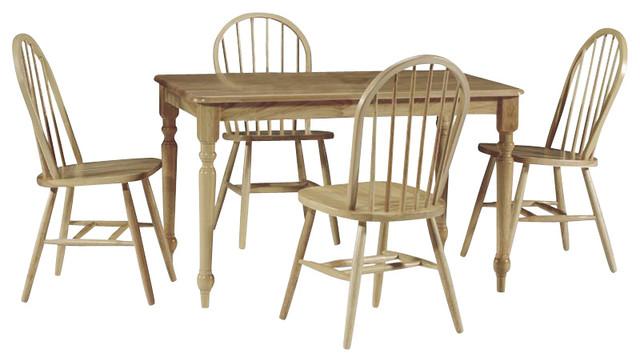 Mason 5-Piece Wooden Dining Set, Natural.