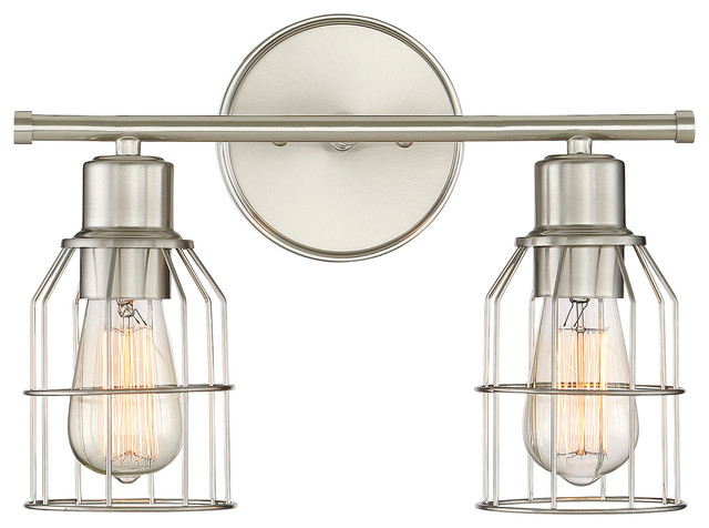 Brushed Nickel Led Bathroom Light By Kuzco Lighting: 2-Light Bath Bar Light