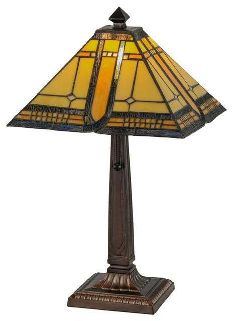 Meyda Tiffany Sierra Prairie Mission Tiffany Table Lamp X-284741.