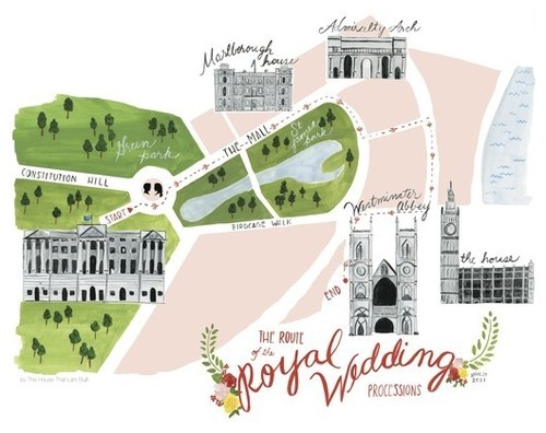 Processional Map of Royal Wedding contemporary artwork