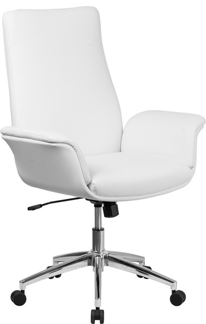 Flash Furniture Mid-Back  Leather Executive Swivel Chair.