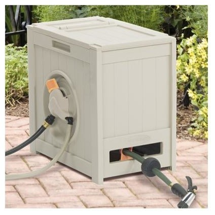 Garden Hose Reel List Price A Garden Hose Reel With Green And