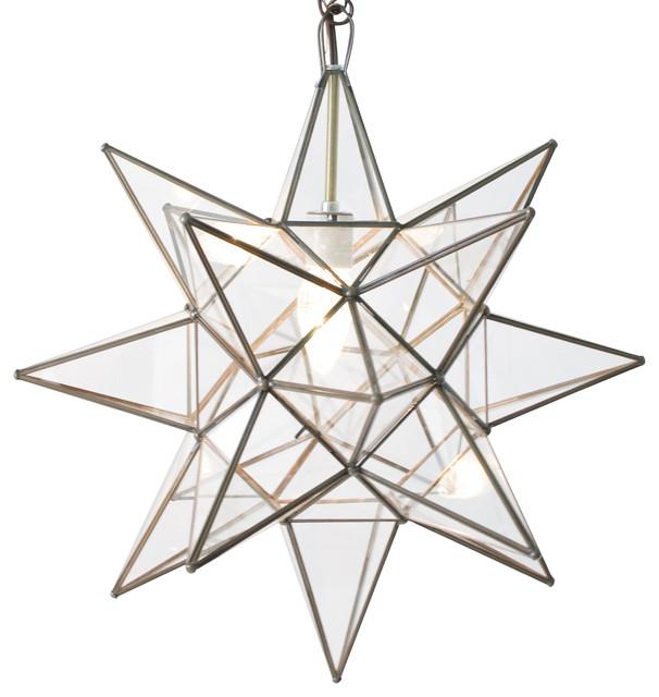Clear star chandelier transitional pendant lighting by kathy polaris hollywood regency star glass pendant 15 aloadofball Choice Image