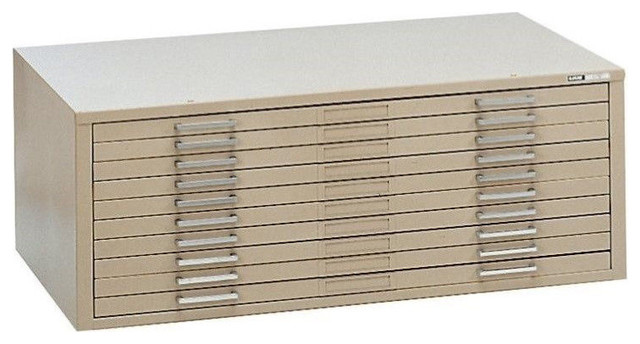 """Mayline C-Files 10-Drawer Flat Files Cabinet 30""""x42"""" Sheets - Transitional - Filing Cabinets ..."""