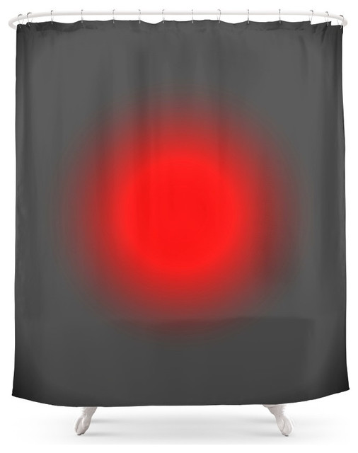 Society6 Red And Gray Focus Shower Curtain