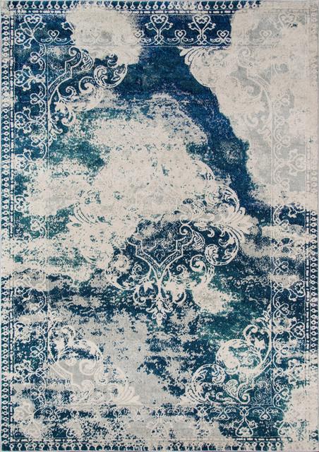 Loft Lo09 Blue Rug, 5&x27;3x7&x27;6.