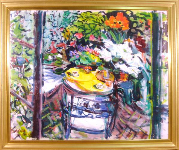 Dimitrie Berea, The Garden On Virginia In San Francisco, Oil Painting.