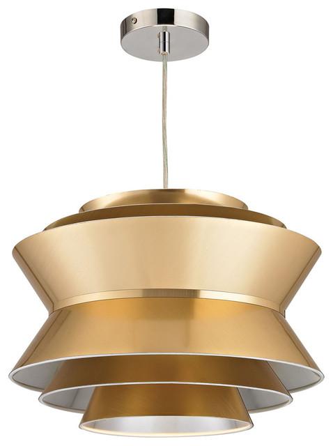 Godnik 1 Light Pendant, Gold
