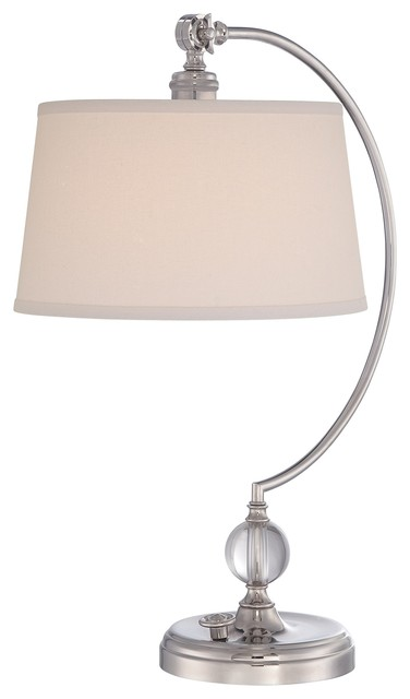 Polished Nickel Curved Modern Table Lamp