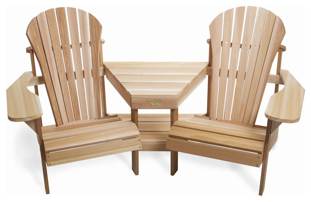 Great Athena Corner Tete A Tete Traditional Adirondack Chairs