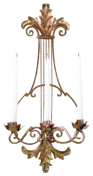 Shop Houzz My Swanky Home Ornate Gold Lyre Harp Candle