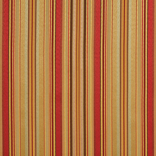 Green Red Gold Shiny Thin Striped Faux Silk Upholstery Fabric By ...