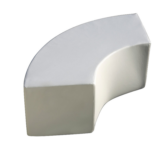 Arc Curved Outdoor Bench, Chill White.