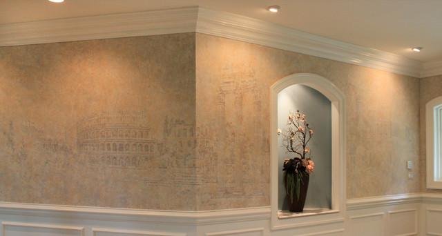 foyer mural. Black Bedroom Furniture Sets. Home Design Ideas