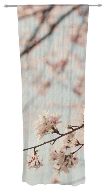 "Catherine Mcdonald ""japanese Cherry Blossom"" Decorative Sheer Curtain."