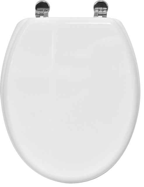 EVIDECO Oval Toilet Seat Pinky With Zinc Hinges 17 5 X Toi