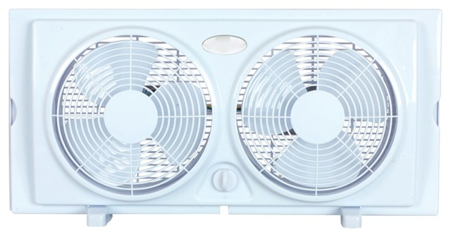 "Optimus 7"" Twin Window Fan."
